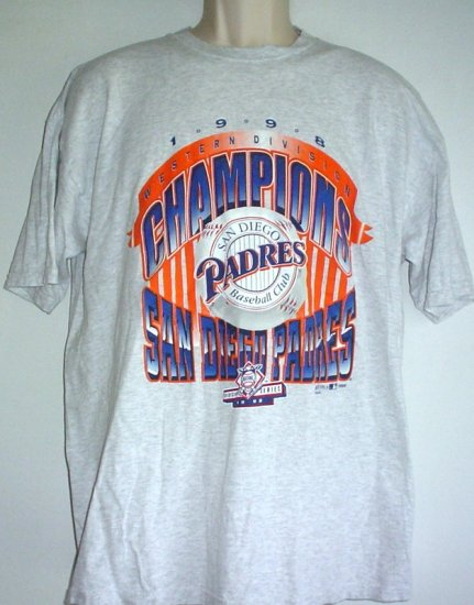 Vintage San Diego Padres baseball Division Champs 1998 Large