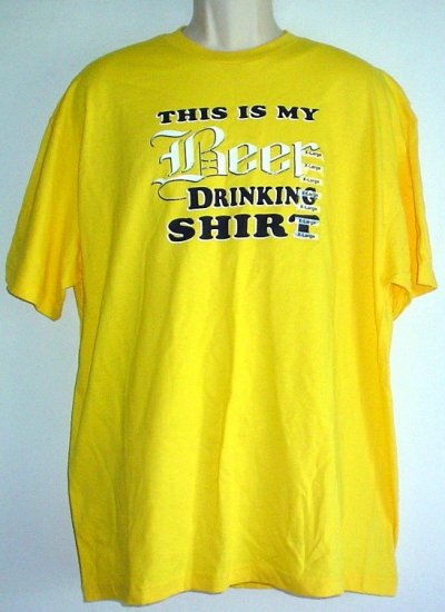 Beer drinking shirt X Large
