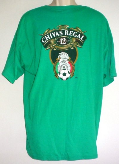Chivas Regal premium scotch shirt Mexico soccer association XL