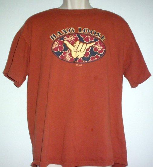 Surfing tee shirt HANG LOOSE  Maui XL