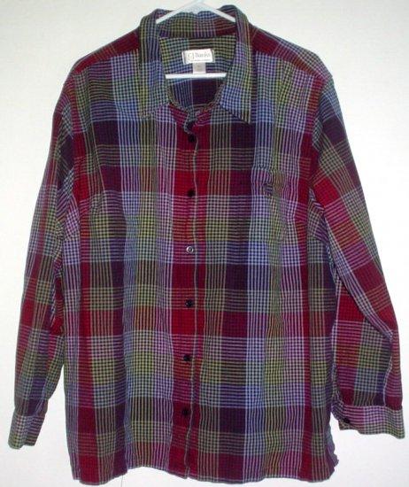 Womans shirt 3X checked Christopher & Banks CJ Banks