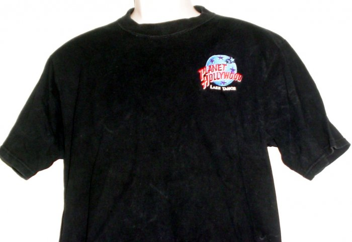 Planet Hollywood embroidered tee shirt Lake Tahoe Large