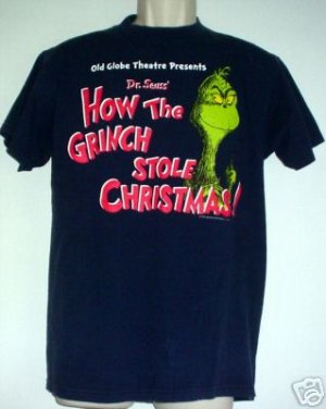 Grinch tee shirt Dr Seuss Old Globe Theatre Medium M