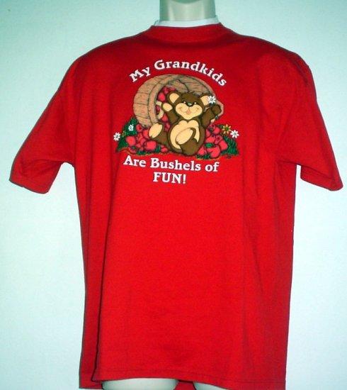 Tee shirt MY GRANDKIDS ARE BUSHELS OF FUN Large