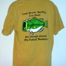 Bass Pro Shops Funny Fishing Buddies tee shirt cotton  Large