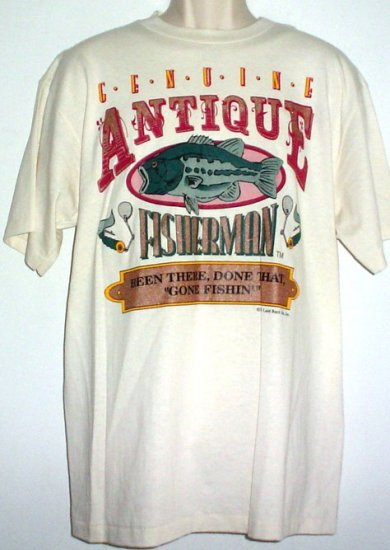 New Tee shirt Genuine Antique Fisherman. Been There Done That Gone Fishin' 100%  cotton Large NWT