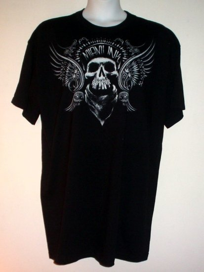 Tattoo tee shirt Miami Ink Winged skull. Goth.  Cotton 6X and 2X New NWT