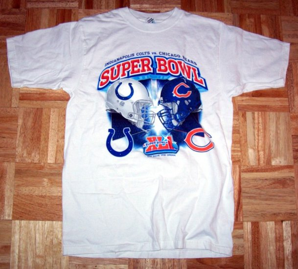 Super Bowl XLI 2007 Miami Florida Colts vs Bears Dolpin Stadium XL