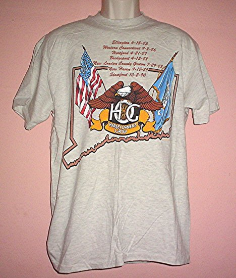 Vintage Harley Davidson tee shirt HOG Connecticut Chapter 1994 Rally Small and Large