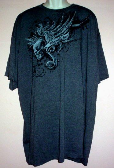 Tattoo tee shirt. Winged Skull Goth Miami Ink cotton 4XL Tall
