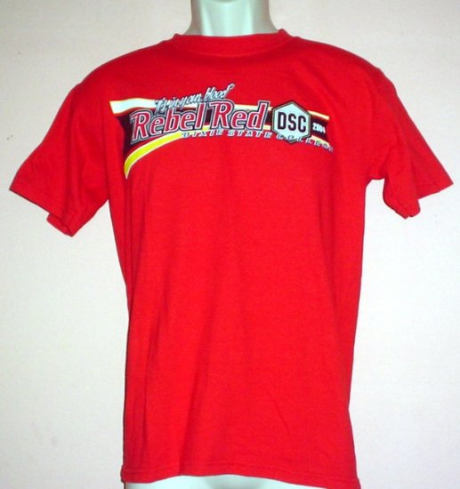 "Dixie State College tee shirt 2004 Rebel Red ""It's in your blood"" Size Small S"