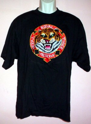 Embroidered tee shirt NEPAL ROYAL TIGER PRESERVE Size Large L
