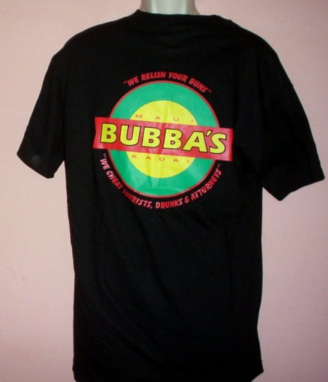 Tee shirt BUBBAS WORLD FAMOUS HAMBURGERS  Kauai Hawaii Size Large L