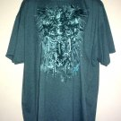 Tattoo tee shirt Skeleton knight helmet roses key Goth  4XL Tall