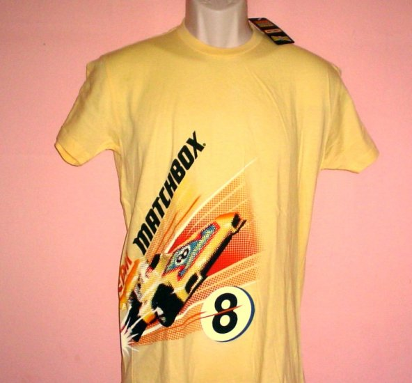 Tee shirt TEAM MATCHBOX  8 Mattel Made in USA Cotton Sizes X large XL, Large L Small S
