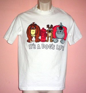 Warner Brothers cartoon tee shirt IT'S A DOG'S LIFE Size Small S