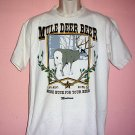 Mule Deer Beer tee shirt Montana MORE BUCK FOR YOUR BEER Size Large L