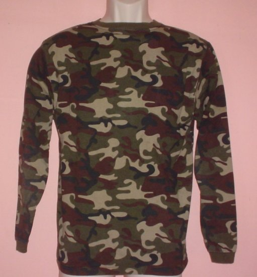 New NWT Cammo Hunting Jersey Long sleeve cotton Faded Glory  Size XL