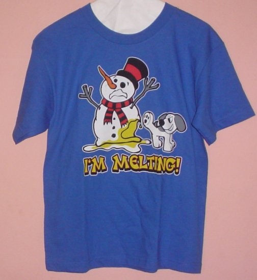 Funny Youth tee shirt  I'M MELTING Snowman Size Youth Large