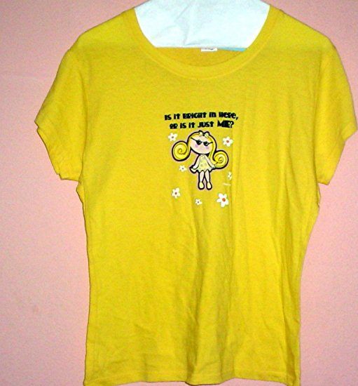 Childs tee shirt Girl IS IT BRIGHT IN HERE OR IS IT JUST ME?  XL