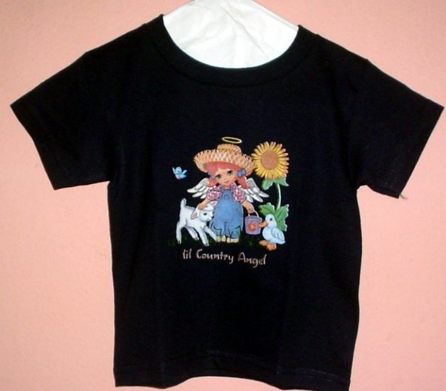 Toddlers tee shirt LIL COUNTRY ANGEL Duck Lamb Size 2T Top Quality