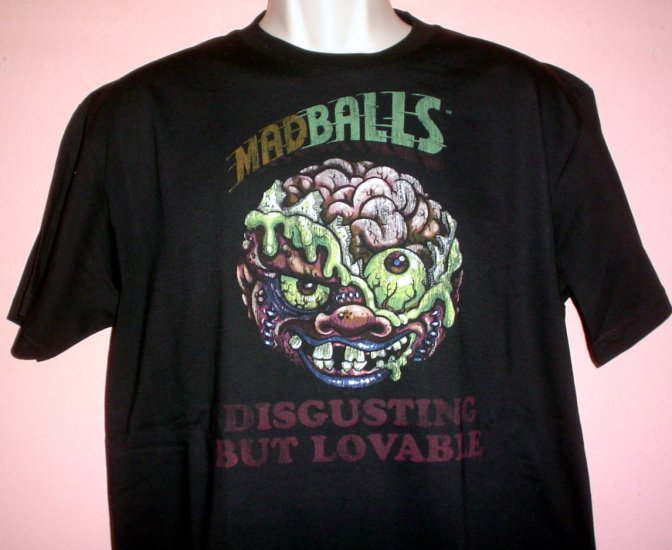 Tee shirt MAD BALLS DISGUSTING BUT LOVABLE New NWT Size Large L