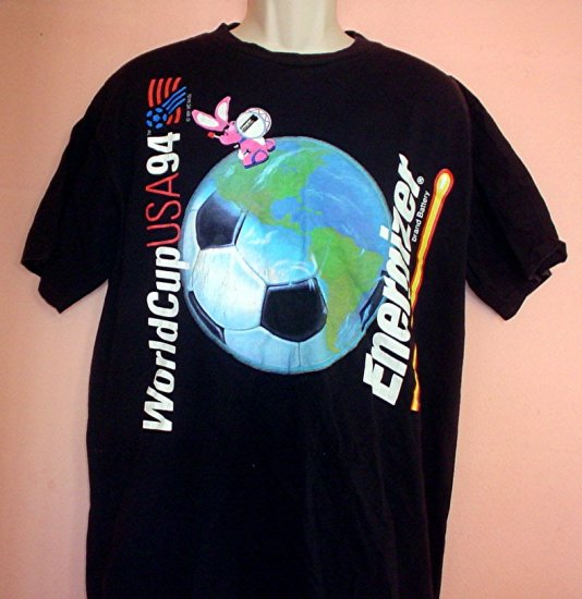 Vintage soccer tee shirt USA World Cup 1994 Energizer bunny Size Extra Large XL