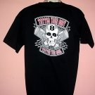 New NWT Motorcycle Tattoo tee shirt (TATTOO YOUR BODY TATTOO YOUR SOUL.Skull, pistons Size Large L