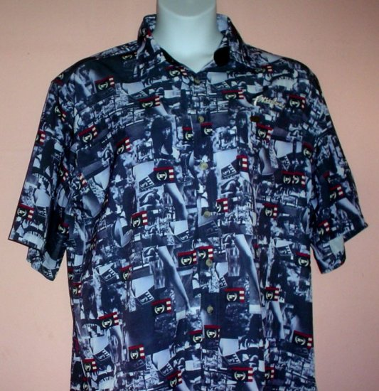 Phat Farm shirt. Poly print Urban Preppy Size Large L