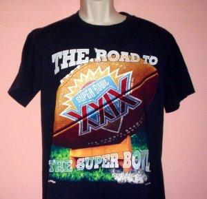 Vintage sports tee shirt 1995  Chargers at Joe Robie Stadium Miami Fl Super Bowl XXIX Size Medium M