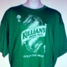 Beer tee shirt George Killian's Irish Red Luck of the Irish Size 4XL