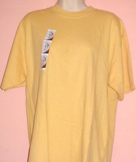 Tee shirt Cotton Discus label Goldenrod colored Size Large L