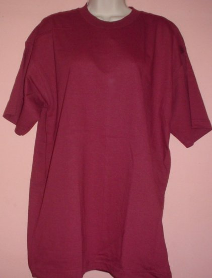 Cotton tee shirt Counter Culture Wine colored cotton crewneck Size XL