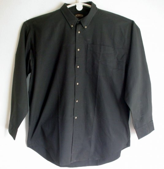 Cotton shirt Butterfield Stage charcoal black size 3XL