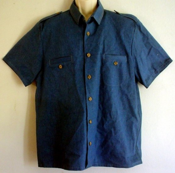 Levis Levi Strauss heavyweight chambray sports or work shirt Size extra large xl