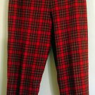 Pendleton pants slacks wool tartan plaid Size Petite 12 Made in USA