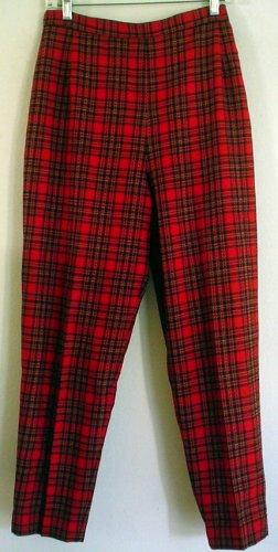 Pendleton pants slacks wool tartan plaid Size Petite 12 Made in USA