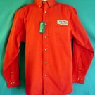 New with tag cotton work shirt red Karl Strauss Breweries  San Diego California Large