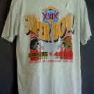 NEW Super Bowl XXIX 1995 tee shirt Chargers - 49ers Miami Florida Joe Robie Stadium XL vintage NOS