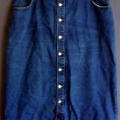 Denim skirt cotton button front. Size 24 2XL