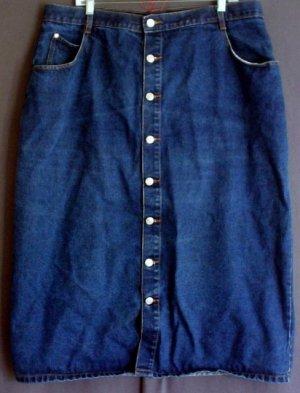 Denim skirt cotton button front. Size 24 2XL