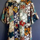 Washable silk shirt top floral Campia small S