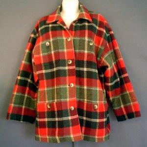 Womans wool sport jacket fully lined tartan plaid. Jones New York.  Size medium M