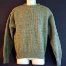 Wool sweater. USA Gray Ribbed Crewneck Lord Jeff Size large L.