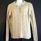 Fisherman type wool womans sweater Eddie Bauer  XL