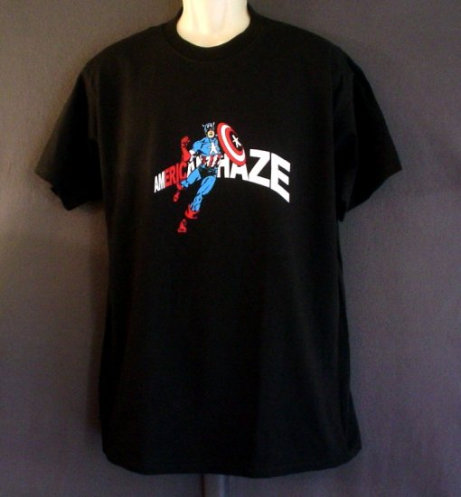 NEW Captain America tee shirt Made in USA Size Large L