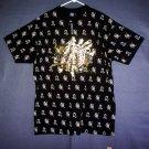 NEW Big 4XL wheel of the zodiac tee shirt. Black. Made in USA