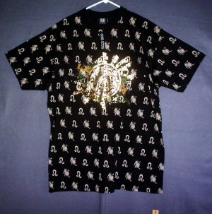NEW Big 4XL wheel of the zodiac tee shirt. Black. Made in USA