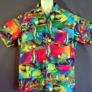 Tropical fish Hawaiian sports shirt Cotton Size large