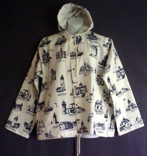 Sailing spray jacket nautical.NEW Hooded cotton poly canvas duck XL